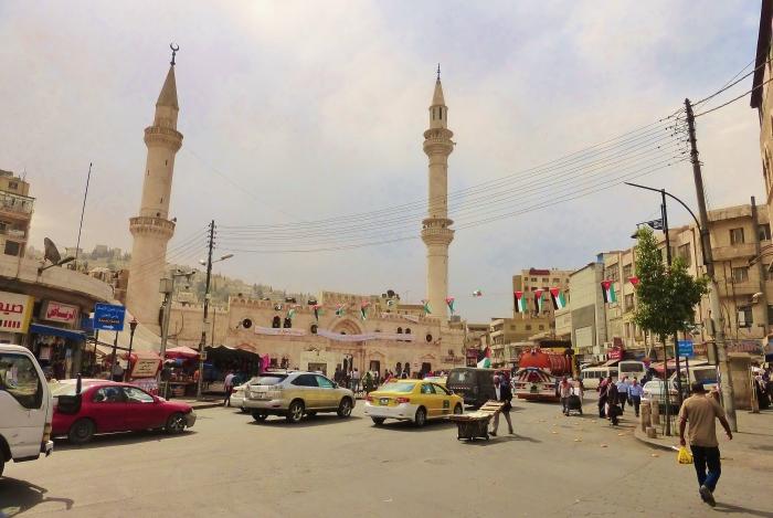 Jordania - jedna z ulic w starej części Ammanu.