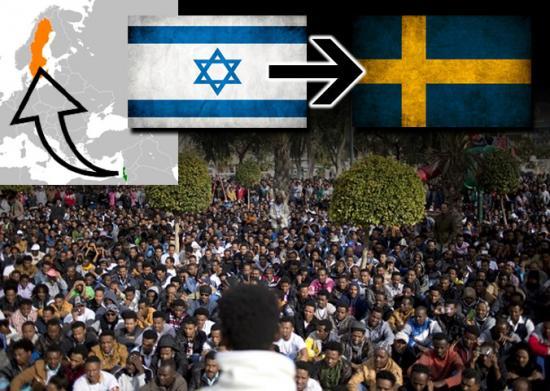 Izraelskie Ministerstwo Spraw Zagranicznych potwierdziło, że eksportuje nielegalnych afrykańskich imigrantów do Szwecji płacąc każdemu $3500, pod warunkiem że nie wrócą do Izraela. Dlaczego nie eksportują ich spowrotem do Afryki???