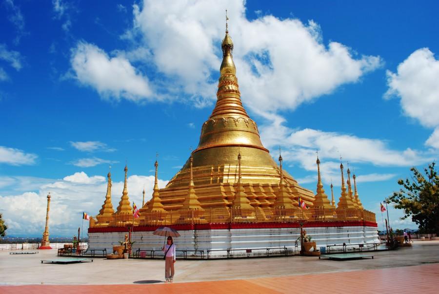 Burma Myanmar Golden Pagodas.